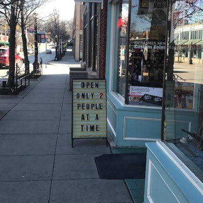 picture of store sign in Cleveland Heights [Tricia Springstubb/Raw Data]