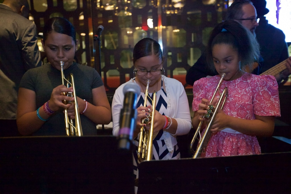 Photo of Open Tone Music students playing trumpets [Open Tone Music]