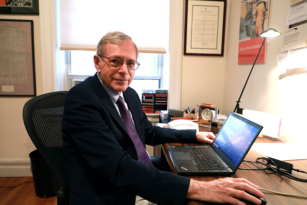 Anisfield-Wolf Book Awards Lifetime Achievement winner Eric Foner in his office in New York City.