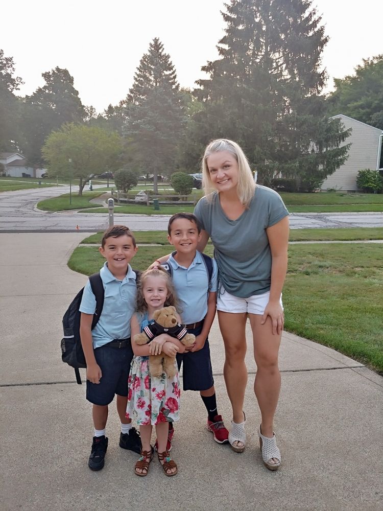 Megan DiFranco with her children.