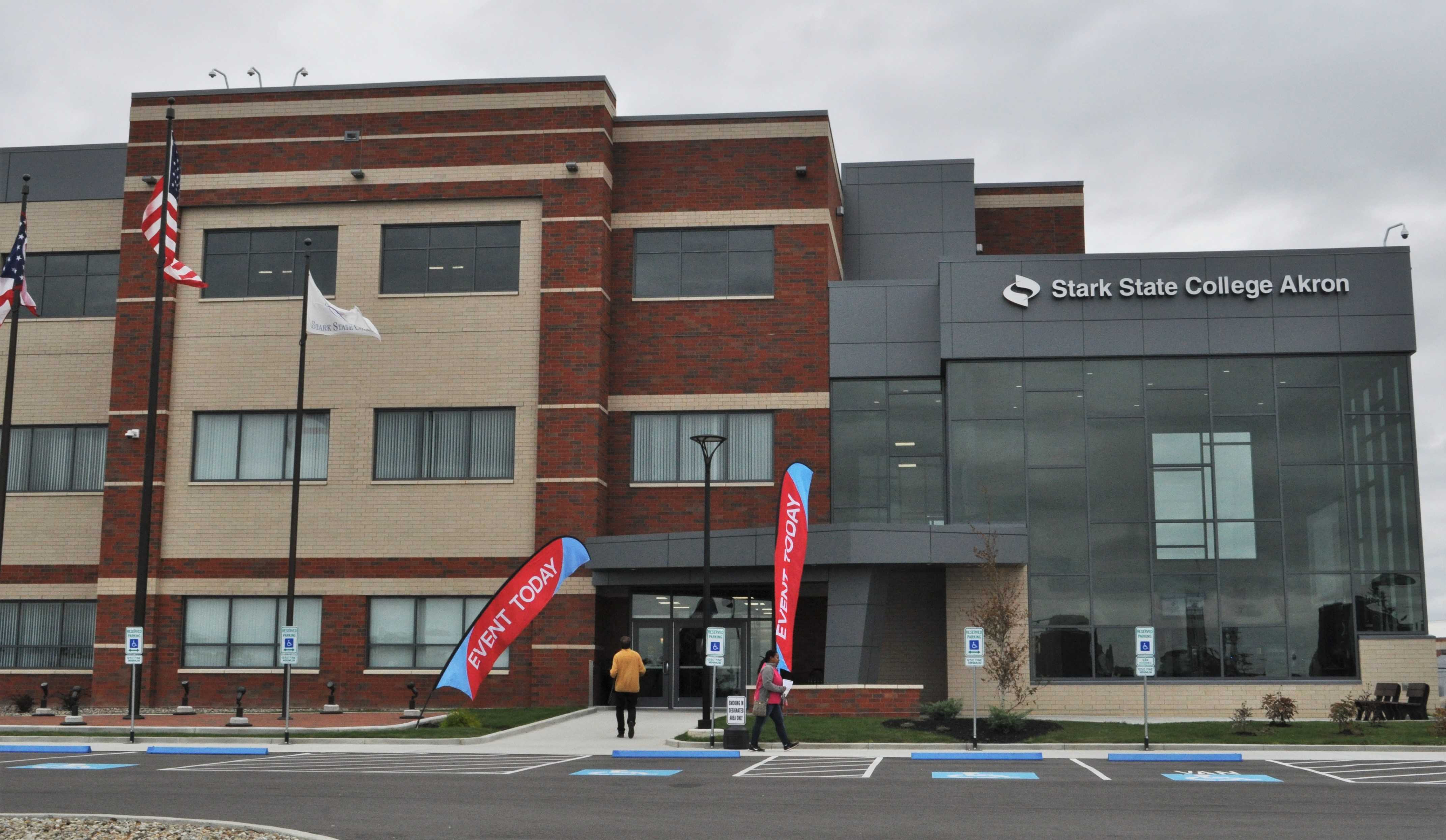 The new Stark State College building on Perkins St. in Akron is just half a mile from the UA campus.