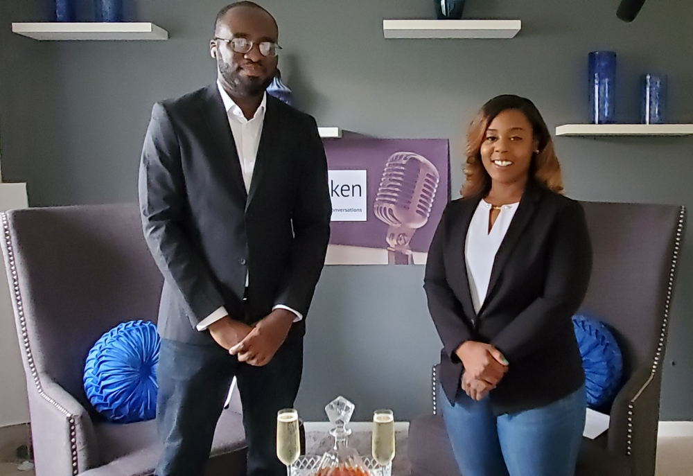 "Chardonnay Graham and Kofi Amponsah co-host the docuseries ""Unspoken,"" produced by Touch Cleveland. [Touch Cleveland]"