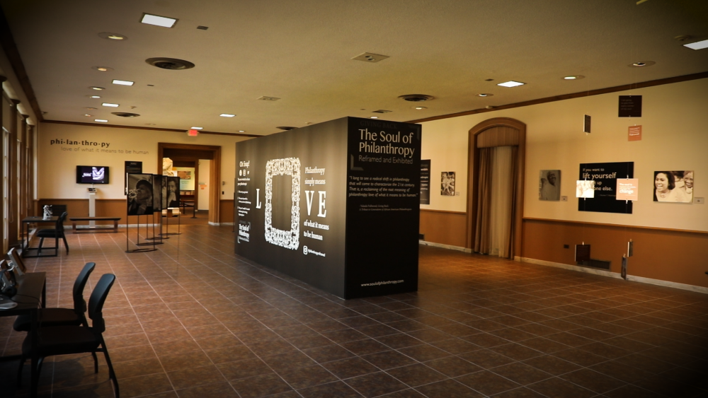 Giving Back: The Soul of Philanthropy Reframed and Exhibited is a traveling exhibit created by author Valaida Fullwood. The exhibit is on display through December 6 at The Cleveland History Center.