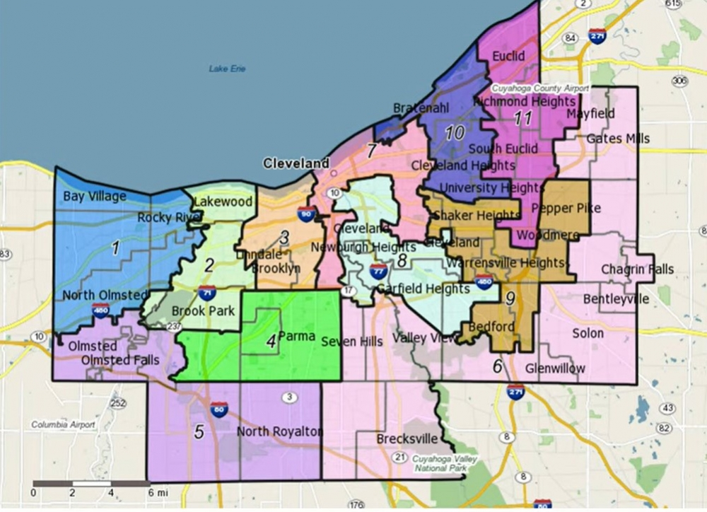 New Cuyahoga County district boundaries